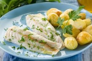 Filetes de pescada no forno