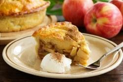 Tarte de maçã com natas