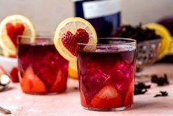 Gin com infusão de hibisco