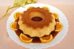 Pudim de laranja com leite condensado