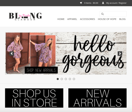 Bling's E-Commerce Site