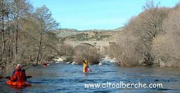 Rio alberche a su paso por Burgohondo