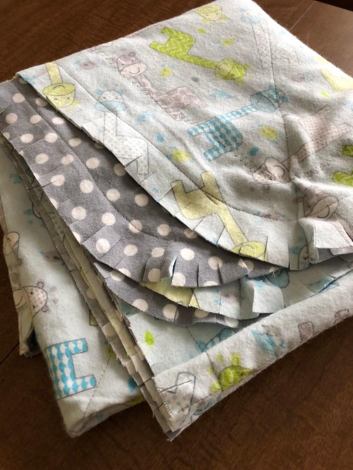 Rag edge blanket