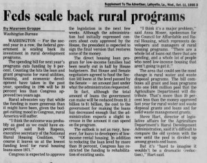 Feds Scale Back Rural Development Programs