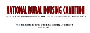 Recommendations to the Millennial Housing Commission