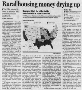 Rural Housing Money Drying Up