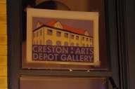 The Restored Depot is the home of the Creston City government and an art gallery.