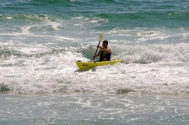 My son-in-law riding the waves