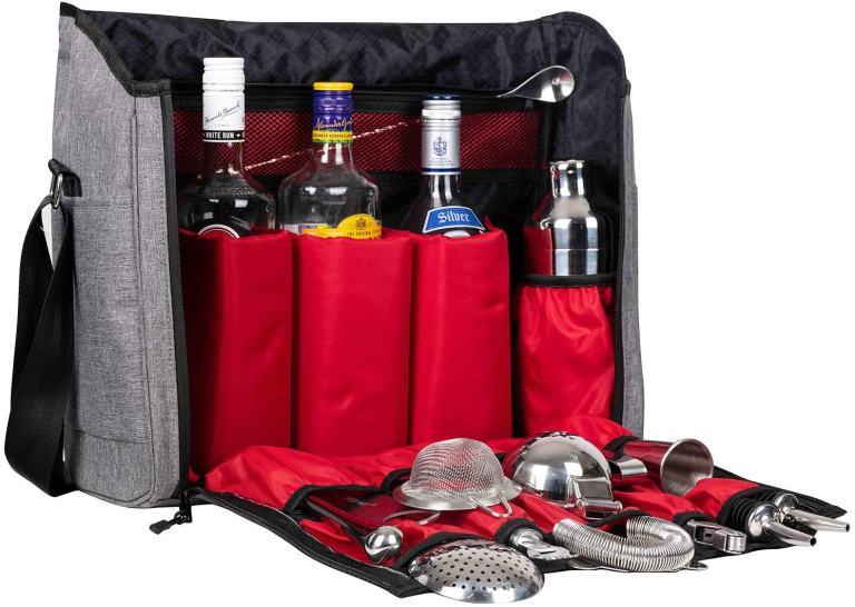 Jillmo  – Travel Bartender Bag with 14 Piece Kit