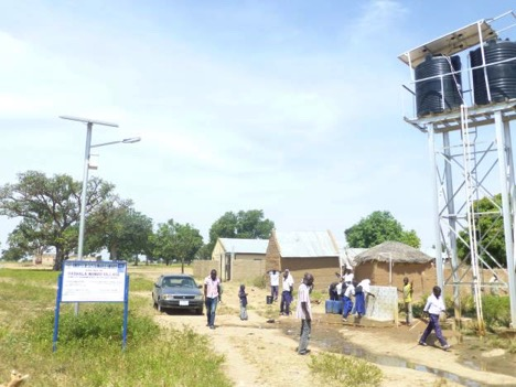 Solar-powered bore hole and street light provided by UNDP|ECN Sustainable Energy for all in Gashala Manud Village