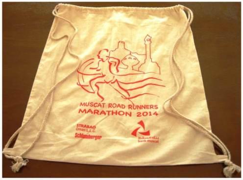 Muscat Marathon bag for participants