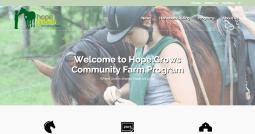 Hope Grows Community Farm Program Where love is shared Hope will growHope Grows Community Farm Program
