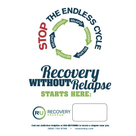 """Recovery Without Relapse Poster - 11"""" x 17"""""""
