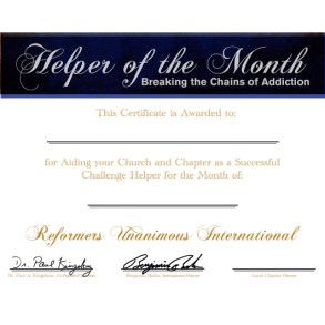 Helper of the Month Certificate