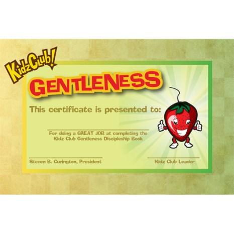 Kidz Gentleness Certificate