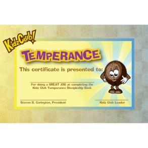 Kidz Temperance Certificate
