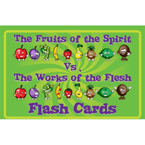 Kidz Club Fruit of the Spirit vs. Works of the Flesh Flash Cards