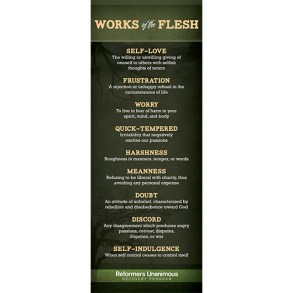 Works of the Flesh Banner