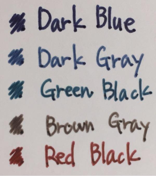 サラサクリップ ビンテージカラーの色見本