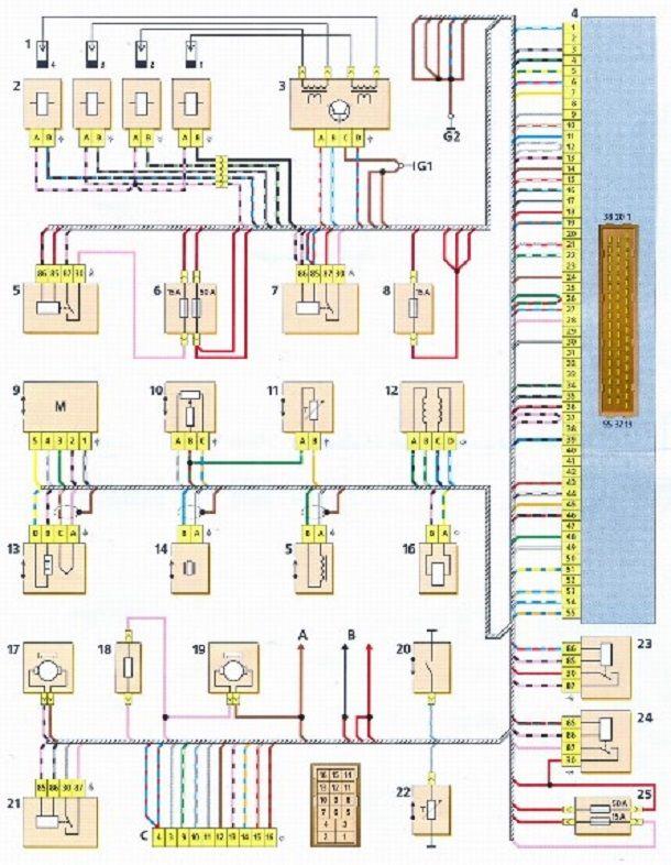 Электросхема бензонасоса