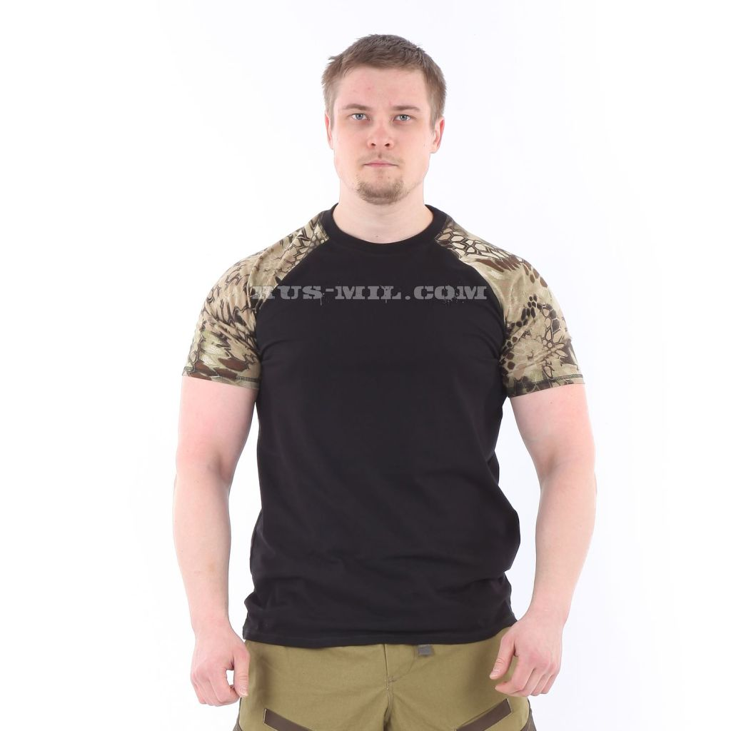 Cotton T-Shirt in Black Highlander