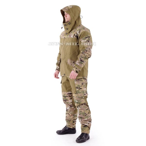 Gorka-3 Khaki colour with pads in Multicam