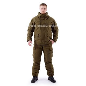 Buy membrane fleece lined Gorka suit in Olive colour
