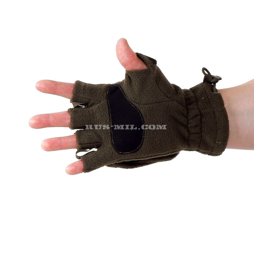Gloves-mittens Keotica fleece in color Olive