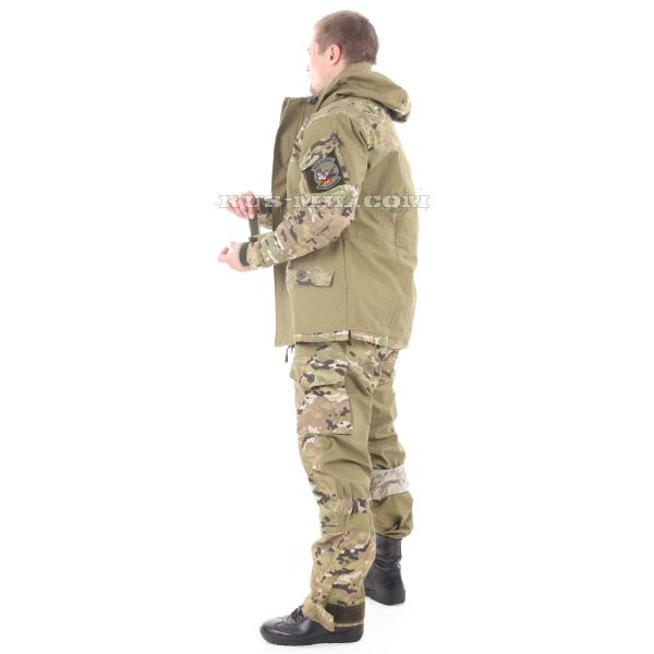 Gorka-5 suit khaki with fleece removable lining, multicam for sale