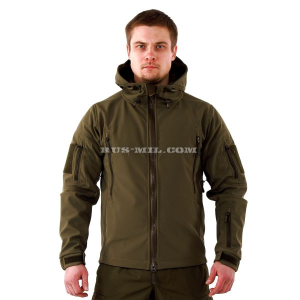 Jacket from the membrane Softshell color Olive