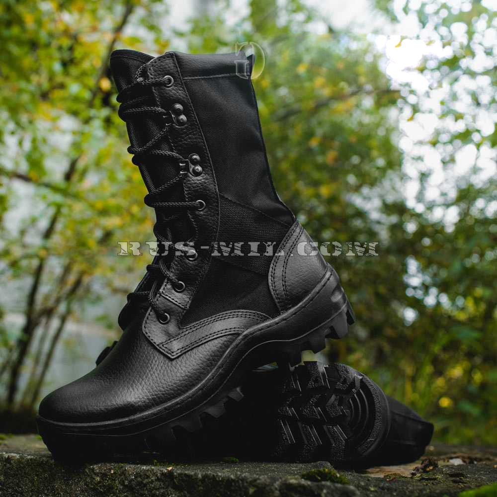 Boots Garsing with high berets Black Shot, black