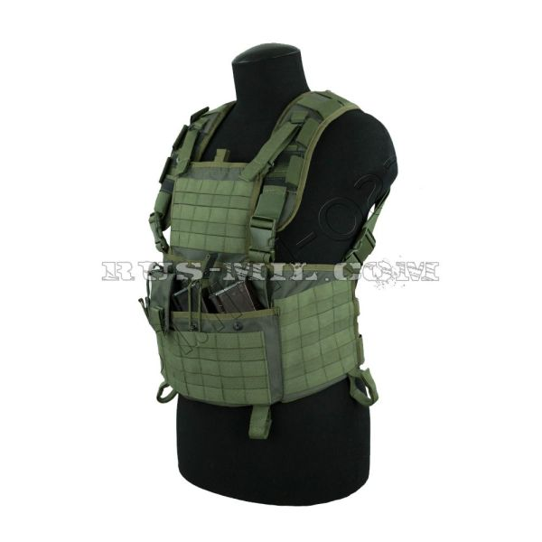 """Legat"" olive molle chest rig"