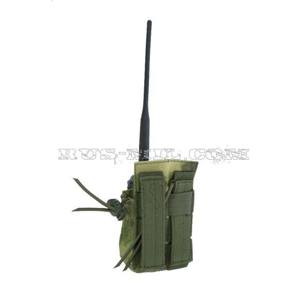 PRS 2 molle radio pouch moss back