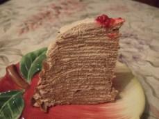 Блинный торт с тыквенной начинкой
