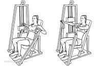 Hammer strength machine/seated chest press