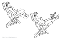 Seated machines leg extensions