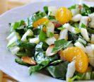 Салат из капусты пак чой с мандаринами