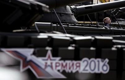 """معرض نماذج الآليات العسكرية في منتدى """" الجيش - 2016"""" العسكري التقني الدولي بضواحي موسكو"""