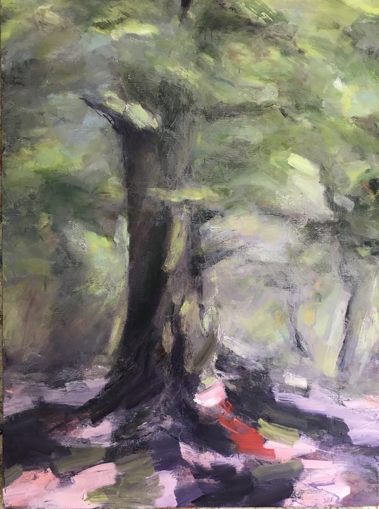 Art contemporain, sensualisme, peinture à l'huile, Arbre, Oil Painting, Contemporary painting, #contemporaryart