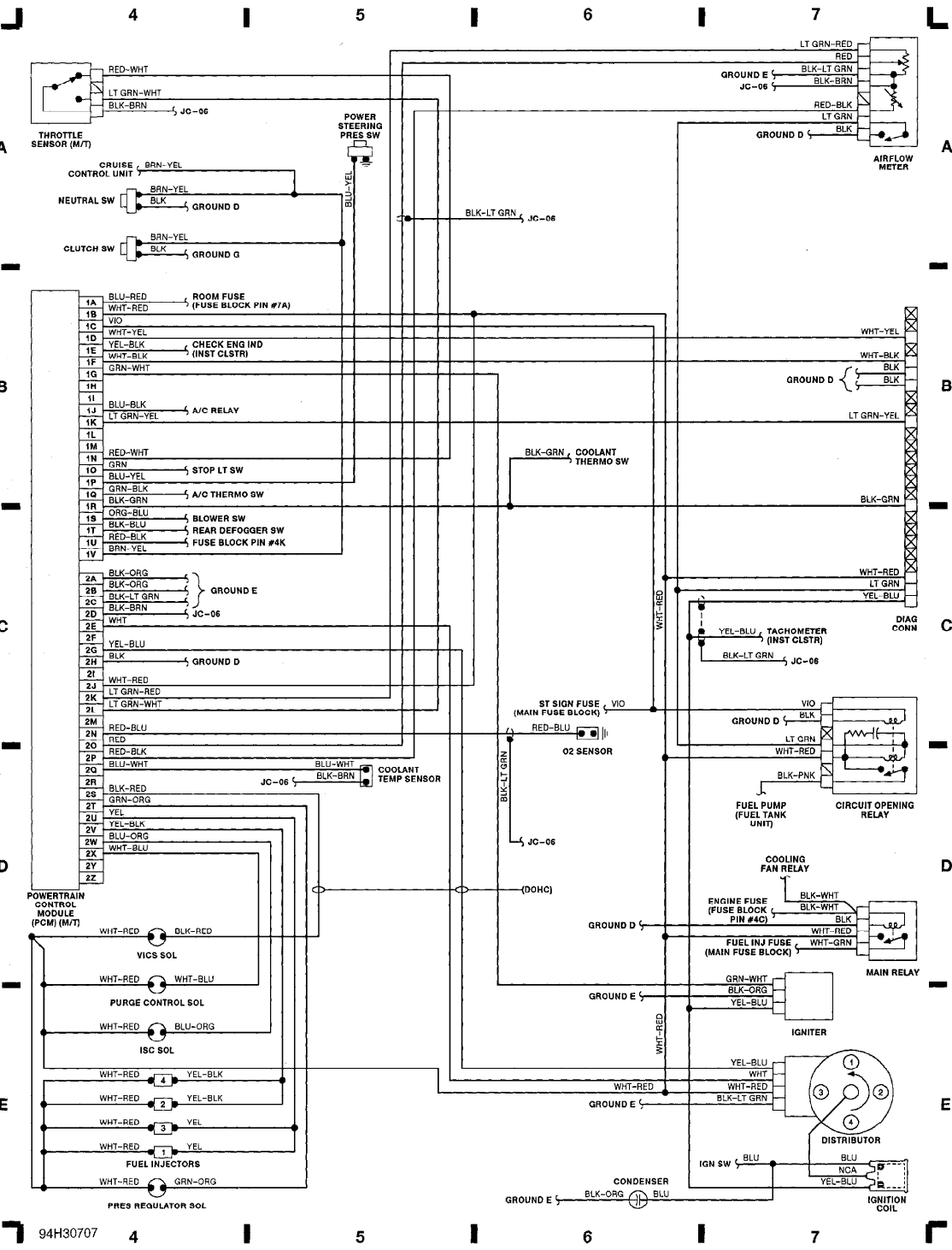 Mazda 626 Wiring Diagram