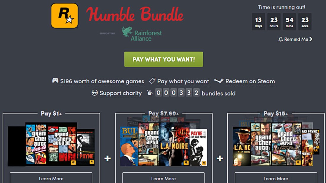 Humble Bundle: Rockstar Bundle