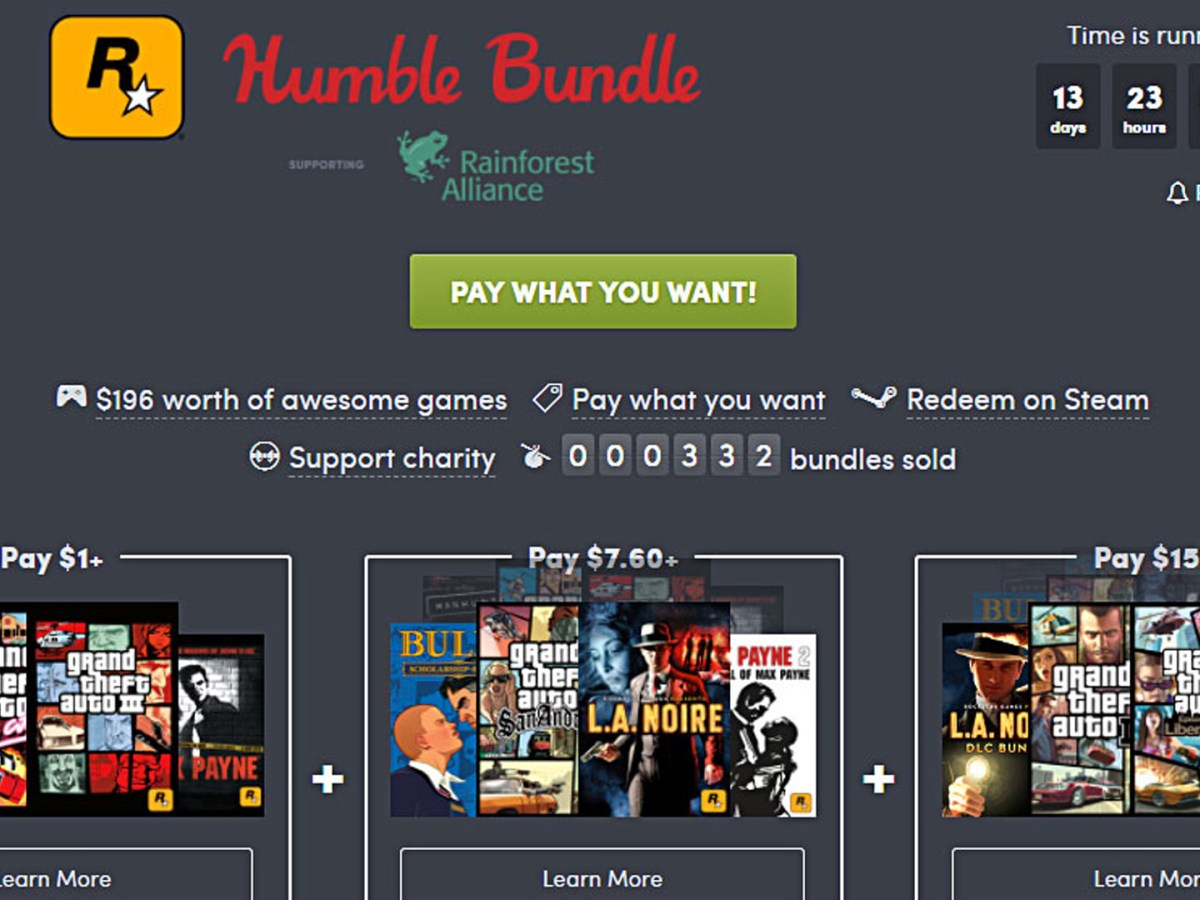 Humble Bundle: Rockstar Bundle