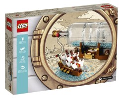 LEGO IDEAS - Schiff in der Flasche - Verpackung Rückseite