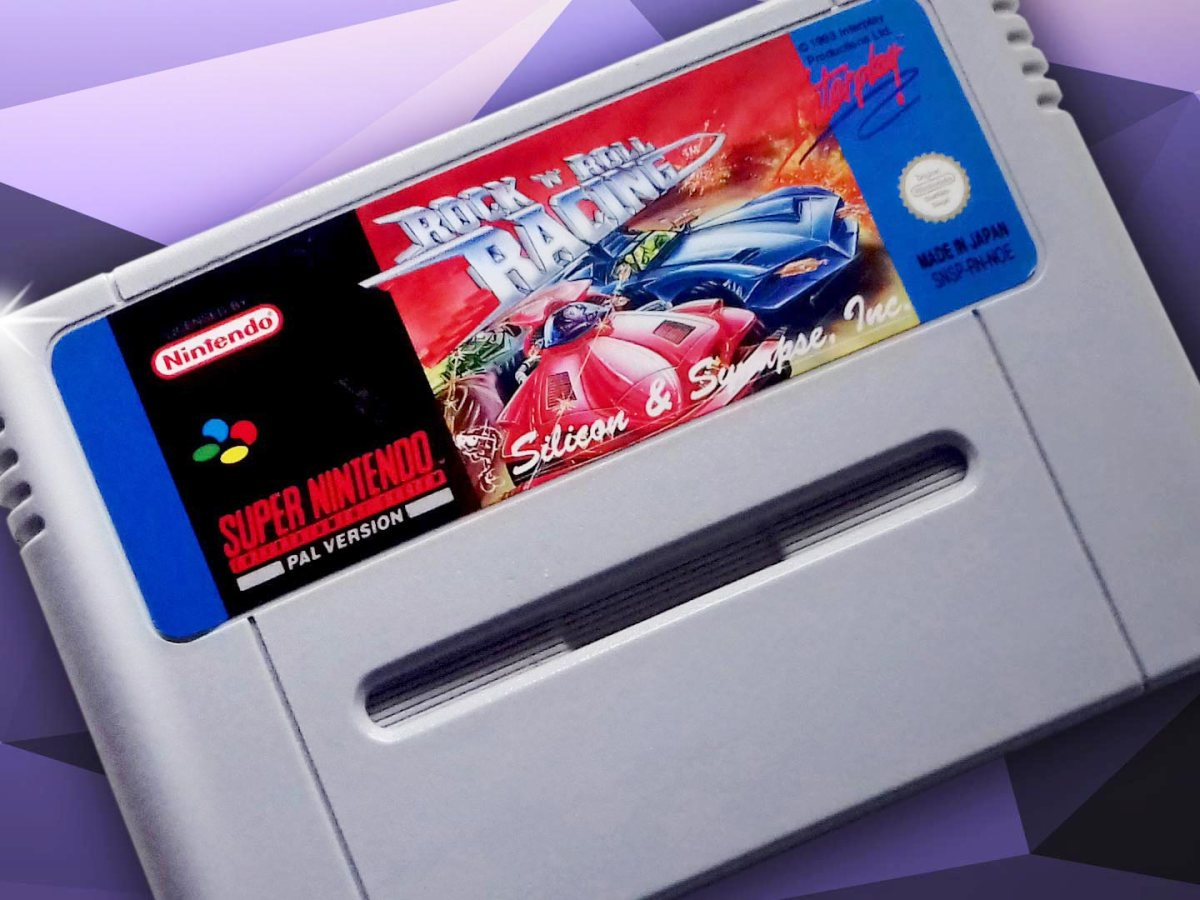 Super Nintendo Spiel - Rock 'n' Roll Racing