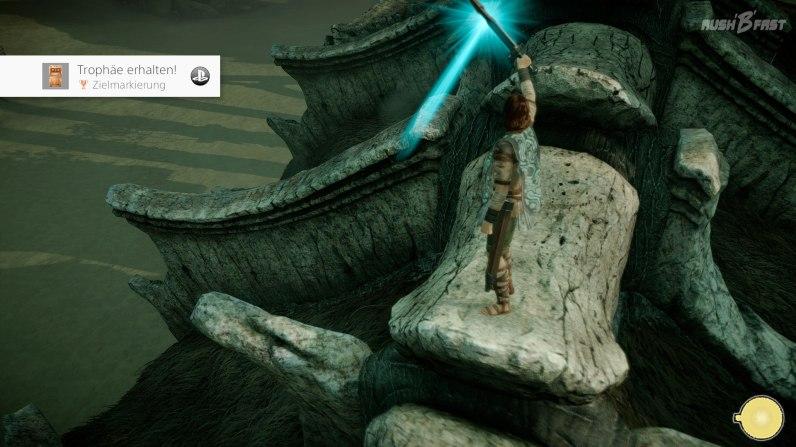 Shadow of the Colossus - Auch auf dem Koloss hilft die Schwertnavigation