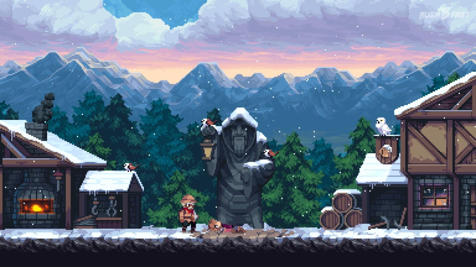 Chasm - Die Detailgrad der Pixelgrafik ist wunderschön anzusehen.