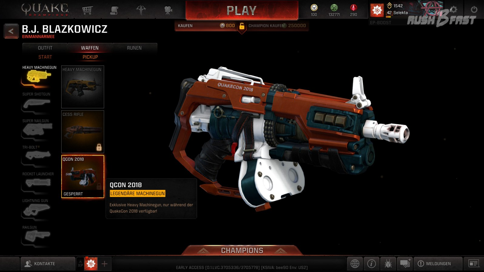 Quakecon 2018 Heavy Machinegun Skin