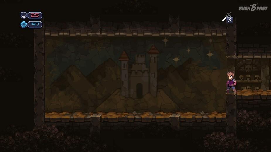 Chasm - Anzahl der Sterne im Hintergrundbild (Seed 1)