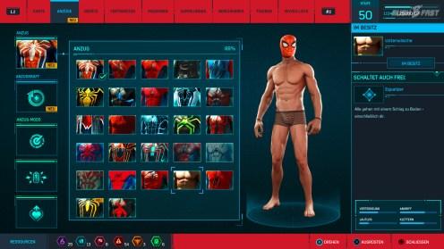 Marvel's Spider-Man: Peter Parker in Unterwäsche.
