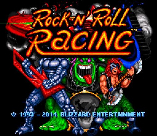 Blizzard Classic Arcade: Rock & Roll Racing - Startbildschirm